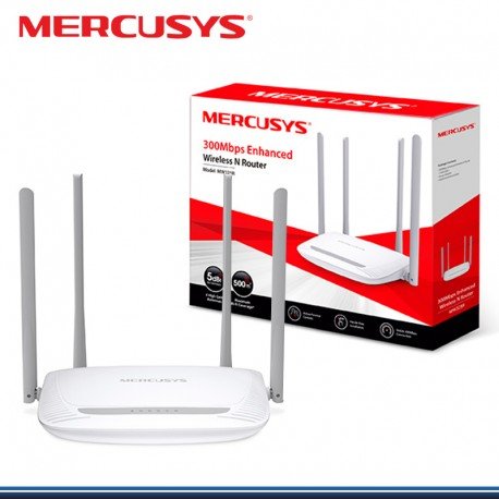 ROUTER WIRELESS N 300MBPS MW325R MERCUSYS 4 ANTENAS