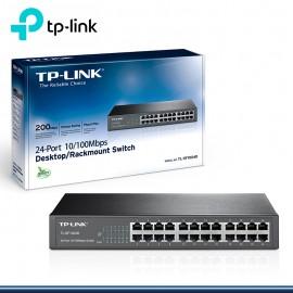 SWITCH TP- LINK TL-SF1024D 24 PORT 10/100 M DE ESCRITORIO METAL (G.TP-LINK)