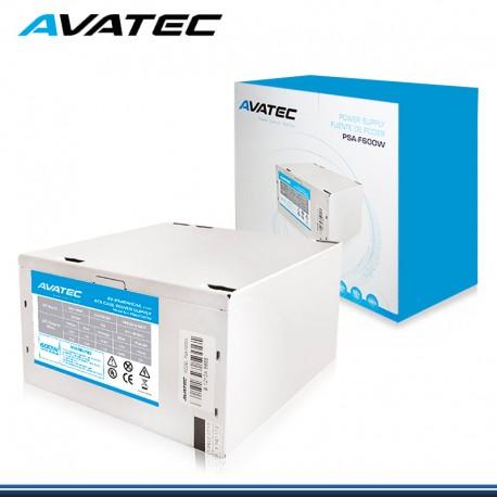 FUENTE PODER AVATEC 600W SATA 20 + 4 PINES BOX (PN: PSA-F600W)
