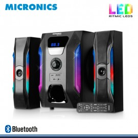 MICRONICS SPECTRE MIC S7057BT RITMIC LEDS SISTEMA DE AUDIO MULTIMEDIA SUBWOOFER DIGITAL 2.1