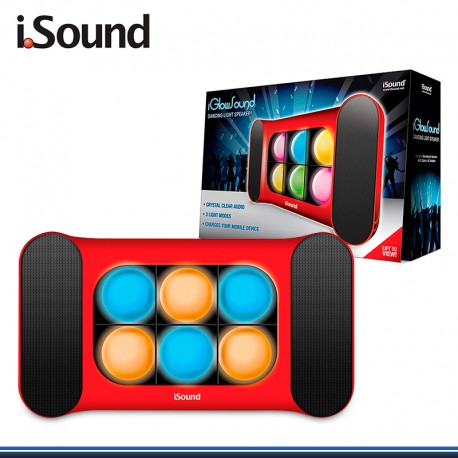 PARLANTE IGLOWSOUND SPEAKER CON LUCES LEDS ISOUND-5247