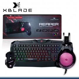 KIT XBLADE REAPER GXB-KMH509 TECLADO + MOUSE + AUDIFONO 7 LED USB