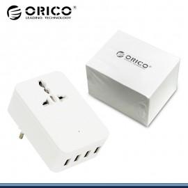 CARGADOR USB BLANCO BLISTER 4 PUERTOS ORICO 5V 4 A(PN:S4U-TEU-WH-PRO)