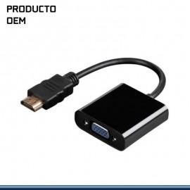 ADAPTADOR HDMI MACHO A VGA HEMBRA + AUDIO
