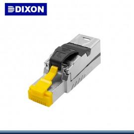 PLUG DIXON CAT. 6A SOPORTA POWER ETHERNET (PN:6A-FP-C6A-FS)