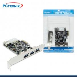 TARJETA PCI.E PCTRONIX USB 3.0 3 PUERTOS P/N: 4455 (G. PCTRONIX )