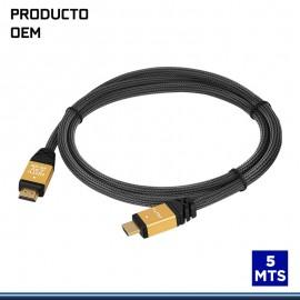 CABLE HDMI 5 MTS MALLA V.2.0 4K .
