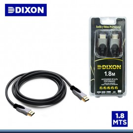 CABLE DIXON HDMI 1.80 METROS 2.0 4k EN BLISTER (PN:DX-HDMI20-180)