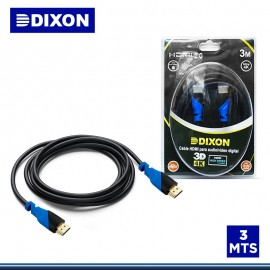 CABLE DIXON HDMI 3.0 METROS 2.0 4k EN BLISTER (PN:DX-HDMI20-300)