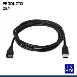 CABLE EXTENSION USB V2.0 TAMAÑO 1.5MTS CON FILTRO