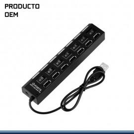 HUB USB HI- SPEED 7 PUERTOS USB 2.0