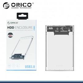 """ORICO 2139U3-PRO-CR CASE PARA DISCO DURO EXTERNO TRANSPARENTE 2.5"""" USB 3.0"""