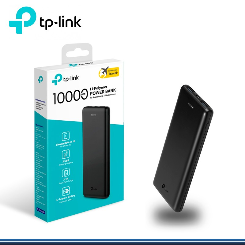 Power Bank Bateria Tp-Link Recargable 10000Mah