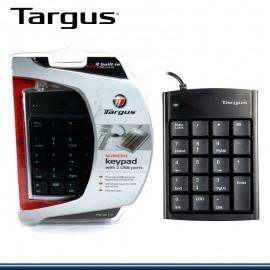 TECLADO NUMERICO TARGUS BLACK 2 PORT USB ( PAUK10U)