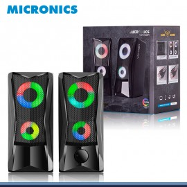 PARLANTE MICRONICS VOYAGER MIC S306 RGB GAMER SOUND 2.0 USB