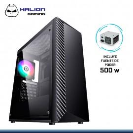 CASE HALION GAMING LIGHTNING RGB CON FUENTE 500W USB 3.0/USB 2.0