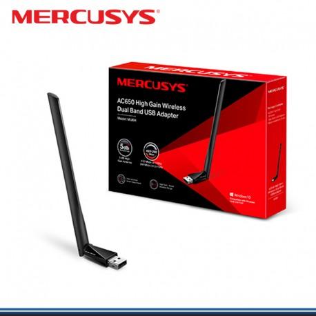 ADAPTADOR MERCUSYS MU6H USB DOBLE BANDA INALAMBRICO AC 650