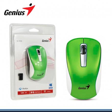 MOUSE GENIUS NX-7010 WIRELESS BLUEEYE GREEN ( PN 31030114108)