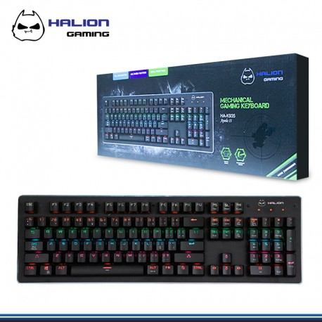 TECLADO GAMER MECANICO HALION APOLO II HA-K935 LED RGB USB