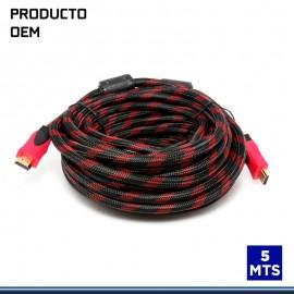 CABLE HDMI GENERICO 5 MTS C/ MALLA