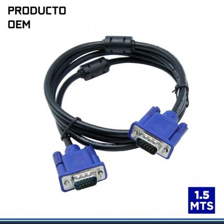 CABLE VGA 1.5 CON FILTRO NEGRO PVC