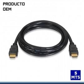 CABLE HDMI 5 MTS PVC V.2.0 4K .
