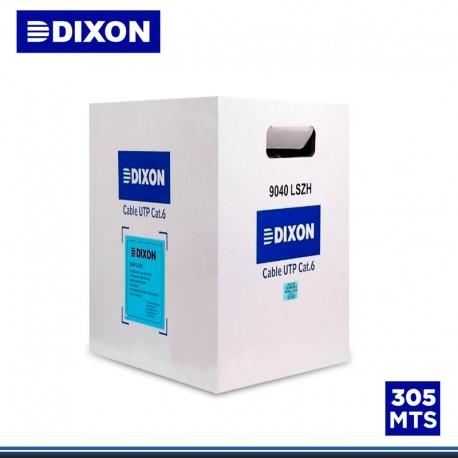 CABLE UTP DIXON 305 MTS CATEGORIA 6 GRIS (P/N:9040-LSZH )