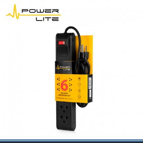SUPRESOR PICO POWER LITE 6 SALIDAS 1.2 MTS, OFFICE 6+ (PN:PLI557)