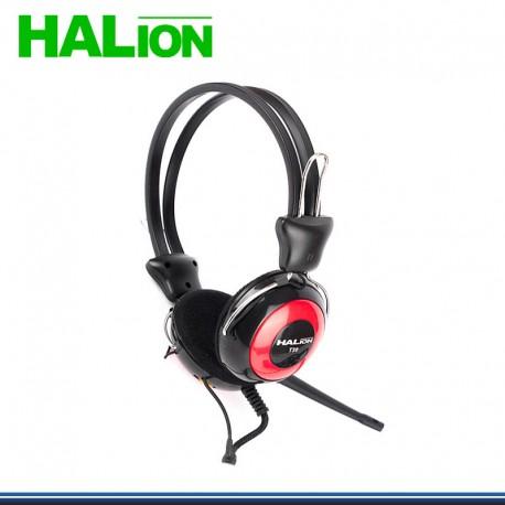 AUDIFONO C/MICROFONO HALION T-30 ROJO