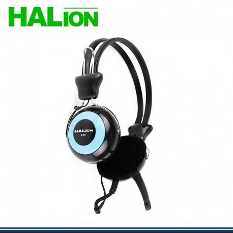 AUDIFONO C/MICROFONO HALION T-30 AZUL