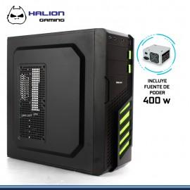 CASE HALION GAMER SCORPION VERDE 5906 400W REAL USB 3.0