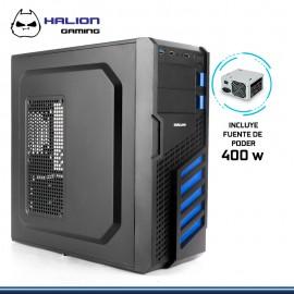 CASE HALION GAMER SCORPION AZUL 5906 400W REAL USB 3.0