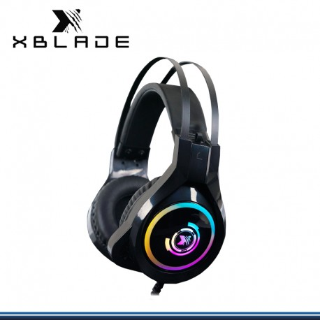 AUDIFONO C/MICROFONO X BLADE GAMING BANSHEE RGB BLACK (GXB-HG896)