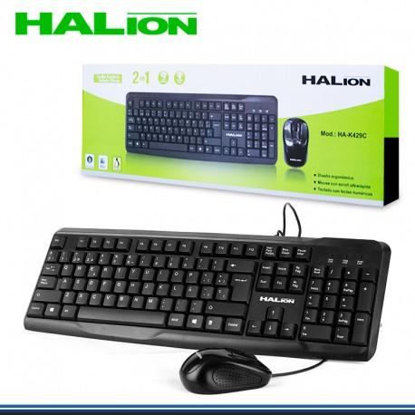 KIT HALION TECLADO+MOUSE HA-429C USB