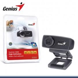 WEBCAM GENIUS FACECAM 1000X HD BLACK USB (PN:32200223101)
