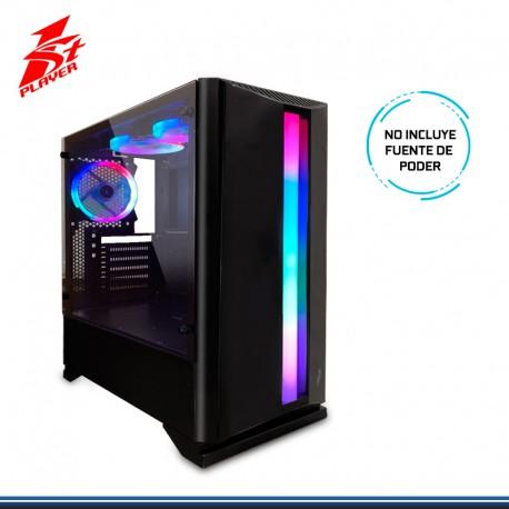 CASE GAMING 1ST PLAYER RAINBOW R6 S/FUENTE USB 3.0 BLACK