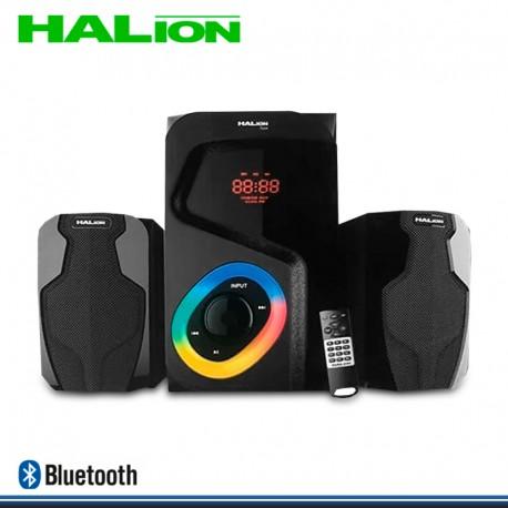 PARLANTE HALION 2.1 NEON HA-F70 POWER DE 120RMS BT/FM/USB/SD/C/REMOTO LED