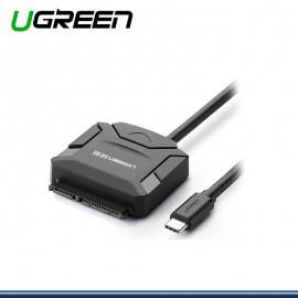 ADAPTADOR UGREEN USB TIPO C A SATA PARA 2.5 Y 3.5 (COD:1291)