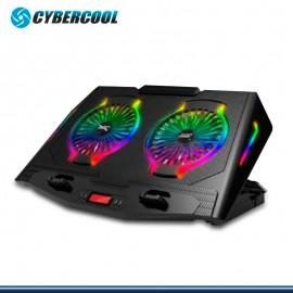COOLER CYBERCOOL HA-N10 GAMING LED RGB RECLINABLE PARA NOTEBOOK
