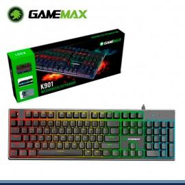 TECLADO GAMEMAX GAMER MECANICO KG901 ANTI-GHOSTING LED RGB