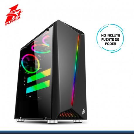 CASE GAMING 1ST PLAYER RAINBOW R3 S/FUENTE USB 3.0 BLACK