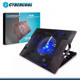 COOLER CYBERCOOL HA-69 LED AZUL RECLINABLE PARA NOTEBOOK