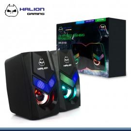 PARLANTE HALION GAMING HA-S118 RGB USB 2.0 NEGRO