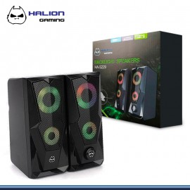 PARLANTE HALION GAMING HA-S229 LED 7 COLORES USB