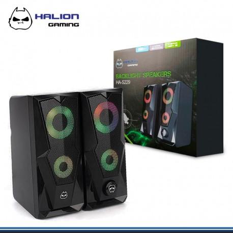 PARLANTE HALION 2.0 GAMER HA-S229 LED 7 COLORES USB