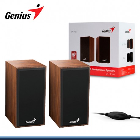 PARLANTE GENIUS SP-HF180 USB POWER 6W WOODEN (PN:31730029400)