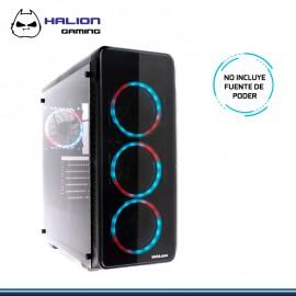 CASE HALION GAMING DOLPHIN C806 RGB VIDRIO TEMPLADO SIN FUENTE USB 3.0/USB 2.0