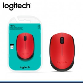 MOUSE LOGITECH M170 WIRELESS RED (PN:910-004941)