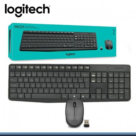 TECLADO LOGITECH + MOUSE MK 235 WIRELESS BLACK ESPAÑOL USB (PN:920-007901)