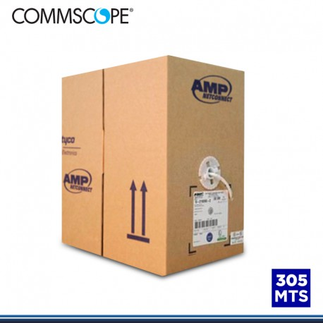 CABLE UTP AMP/COMMSCOPE CAT 6 LSZH-1 4PX24 AWG BLANCO 305 MTS (PN:1427070/2)